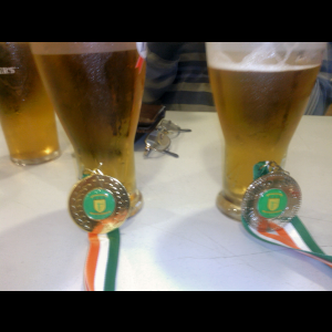 Derek and James win gold and silver in the mens' recurve at the Jolly Archers Hereford.